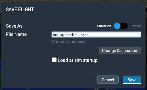 How to save situation files in X-Plane 11